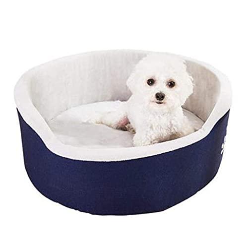L.TSA Cama para Gatos/Perros Casa para Gatos 4 Estaciones Universal Lavable Perro pequeño Peluche para Gatos Cama para Perros Invierno Cálido Suministros para Mascotas (Tamaño: S)