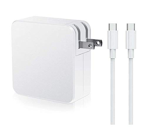 61W Replacement Mac Book Pro Charger, USB C Power Adapter Charger for Mac Book Pro 13 Inch 12 Inch Mac Book Air 13 Inch 2018 and IP ad Pro with Foldable Plug