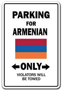 BDTS Nieuwe Parkeerplaats Voor Armeense Alleen Decal Armenië Vlag Nationale Trots Liefde Metalen Teken 8x12 inches