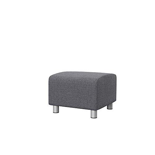 Soferia - IKEA KLIPPAN Funda puf, Naturel Grey
