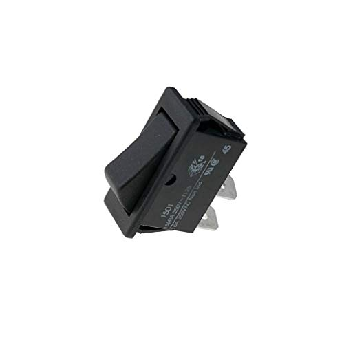 C1501ALAAA ROCKER SPST Pos: 2 OFF-(ON) 16A/250VAC 20A/28VDC black none BULGIN