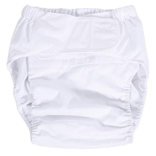 Windeln für Erwachsene - neue waschbare adulierbare Inkontinenz-Pflegetuchwindel für Erwachsene, atmungsaktive Windelhose (Farbe : Weiß)