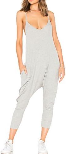 May Maya Women s Black Gray Sleeveless Draped Jumpsuit Playsuit Pants Gray XL product image