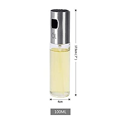 NEW 100ml Oil Bottle Spray Pump Glass Olive Oil Sprayer Honey Vinegar Dispenser Stainless Steel Container Kitchen Gadgets - Kitchen tools for Women, men and Housewife by