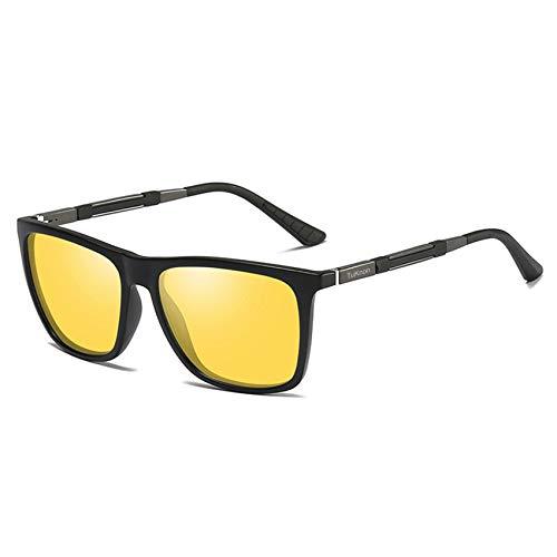 TUKNON Nachtsichtbrille Blendschutz Nachtfahrbrille HD/Polarisiert/Ultra Light Metall/Gewidmet Nachtbrille