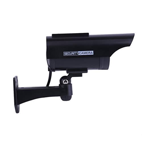 Zhou-YuXiang Práctica cámara de vigilancia CCTV doméstica de imitación Falsa de energía Solar para Interiores y Exteriores con indicador de luz LED