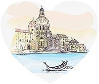 マウスパッドイタリアヴェネツィア大聖堂サンタマリア滑り止めマウスパッドマットマウスマウスパッドデスクトップマウスパッドラップトップマウスパッドゲーミングマウスパッド(ハート型)