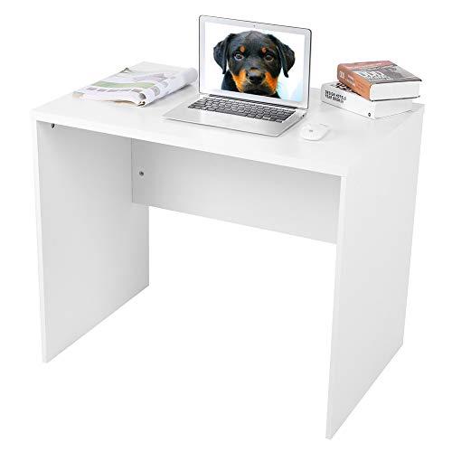 te Kompakter Arbeitsplatz-Schreibtisch, minimalistischer Stil, einfacher Schreibtisch, Arbeitsplatz, weiß, glänzend, für Home Office, 89 x 60 x 76 cm
