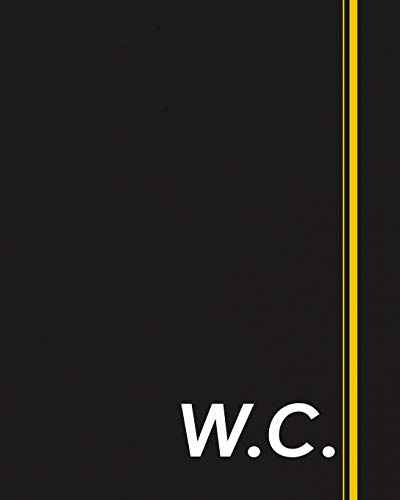 W.C.: Classic Monogram Lined Notebook Personalized With Two Initials - Matte Softcover Professional Style Paperback Journal Perfect Gift for Men and Women [Idioma Inglés]