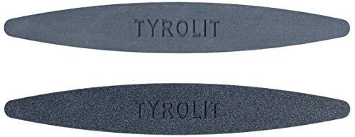 Tyrolit Wetzsteine, 2 Abziehsteine (Körnung 100/240) zum Schleifen und Schärfen von Sensen/Werkzeugen/Gartengeräten