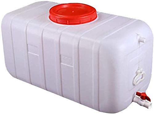 Wasserkanister25- 300L, grande serbatoio d'acqua di capacità | Home Food Grade secchio di plastica di grandi dimensioni | esterno camper serbatoio di acqua con coperchio e valvola anti-Agin,100l