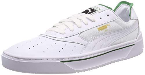 PUMA Cali-0 Zapatillas deportivas de piel Unisex adulto, Blanco (Puma White-Amazon Green-Puma White) , 38 EU