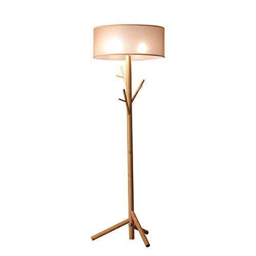 CLJ-LJ Solid Wood Floor - Lámpara de cama para salón, sala de estar, estudio, hotel vertical