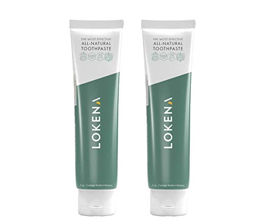 Lokena SLS-Free Natural Toothpaste - No Fluoride or Triclosan - Naturally Sweetened with Xylitol, No Sugar - The Most Effective Natural Toothpaste (2-Pack)
