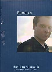 Bénabar - Reprise des négociations (Partition piano voix guitare + Livret textes)