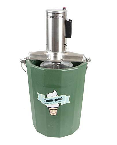 Immergood - 6 qt - Battery Powered Ice Cream Maker - Stainless Steel (Fits Makita 18v)