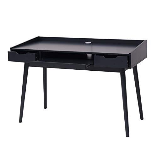 Mendler Schreibtisch HWC-A70b, Bürotisch Computertisch, MDF 120x55cm - dunkelgrau