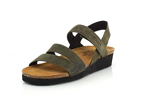 NAOT Footwear Women's Kayla Sandal Oily Olive Suede 8 M US