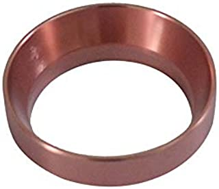 Aluminuml Dosing Ring Intelligent Coffee powder ring 58MM for Brewing Bowl Coffee Powder Espresso Barista Tool Black/Gold/Stainless steel/Rose Gold No magnetic (Rose Gold)
