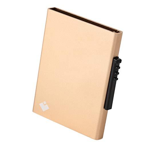 スキミング防止 カードケース クレジットカードケース 磁気防止 スライド式 6枚収納 (ゴールド)
