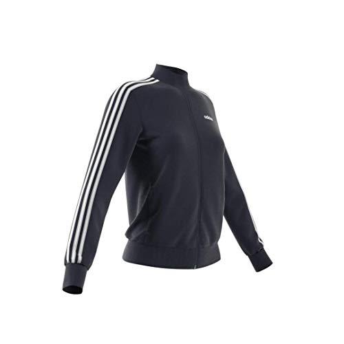 adidas Women's Essentials 3-Stripe Track Jacket, Legend Ink/White, Large