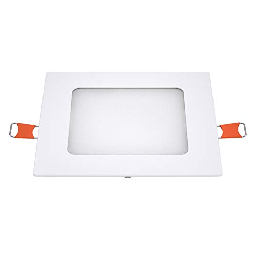 LEDme-downlight cuadrado slim blanco SMD 2835, 6w 4000k blanco neutro, 520lm 120°,...