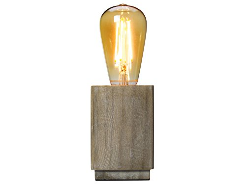 Gusta 4320090 LED-lamp, hout, 2 W, bruin, 8 x 8 x 25 cm