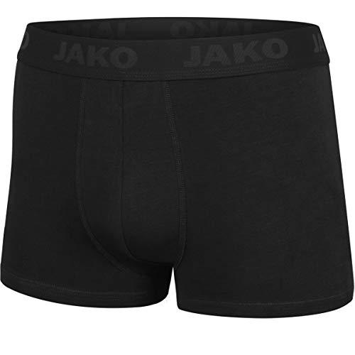 JAKO Herren Premium 2er Pack Boxershort, schwarz, XXL