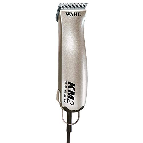 Wahl Professional Animal KM2 Deluxe 2-Speed Pet, Dog, and Horse Clipper Kit (#9757-1001), Champagne