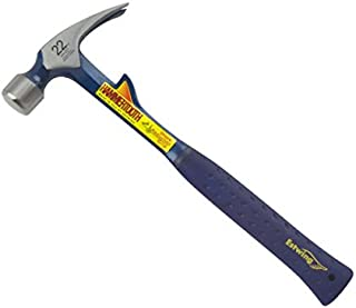 Estwing E6-22T 22 oz Hammertooth Framing Hammer with Smooth Face & Shock Reduction Handle