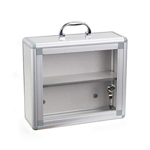 YQ MEDICAL BOX Gabinete de Almacenamiento de Caja Botiquins de Montaje en Pared Grande, Caja de Kit de Emergencia, con Cerraduras Seguras, para Uso en el Hogar, la Oficina y la Escuela