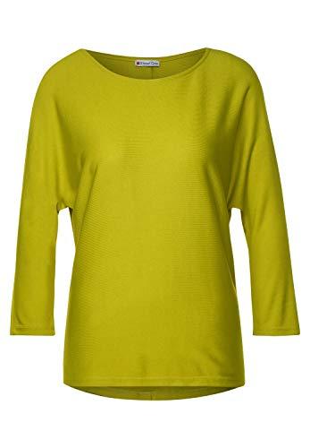 Street One Damen 315283 3/4 Fledermausärmel mit U-Boot Ausschnitt T-Shirt, Apple Green, 40