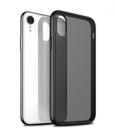 1. Design: custodia di alta qualità su misura per iPhone XR, il design nero opaco trasparente mantiene lo stile original di per iPhone XR.Supporta la ricarica wireless. 2. Protezione: 1,5 mm più alta dello schermo, 1 mm in più rispetto alla fotocamer...
