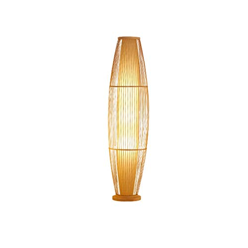 Sala de estar Lámpara de pie Lámparas de bambú Arte Tea Room Club de estilo japonés de bambú tejido de la lámpara decorativa