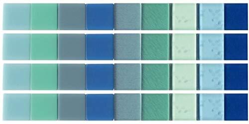 Artemio UBA05 Mosaïque, Résine, Bleu, 12 x 4 x 10 cm