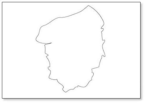 Haute Normandie - Kaart Regio Frankrijk Koelkast Magneet
