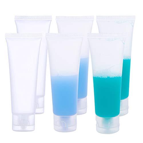 BENECREAT 30 Packung 50ml Durchsichtige Leere Röhrchen Durchsichtige zusammendrückbare Kosmetikbehälter Nachfüllbare Plastiktuben für Shampoo Facial Cleanser Makeup Sample