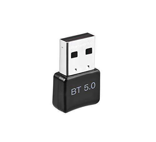 ACTGON USB Bluetooth 5.0 Adattatore, Supporto Windows 10, 8, 7, Vista XP USB Bluetooth Chiavetta Dongle per PC, Laptop, Desktop, Tastiera