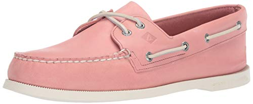 Sperry Women's Authentic Original 2-Eye Boat Shoe, NANTUCKET RED, 10.5