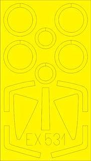 Eduard 1:48 Super Etendard Paint Mask for Kitty Hawk #EX531