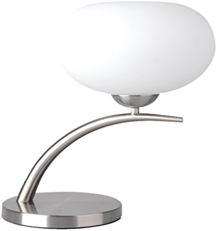 Postmoderne Mode Metall dimming Tischlampe, Nordic Kunst arts Wohnzimmer Touch Tischlampe, Schlafzimmer bettseite E14 Fernbedienung Lampe (wei + hellgrau) HUACANG (Größe   Dimmer switch)