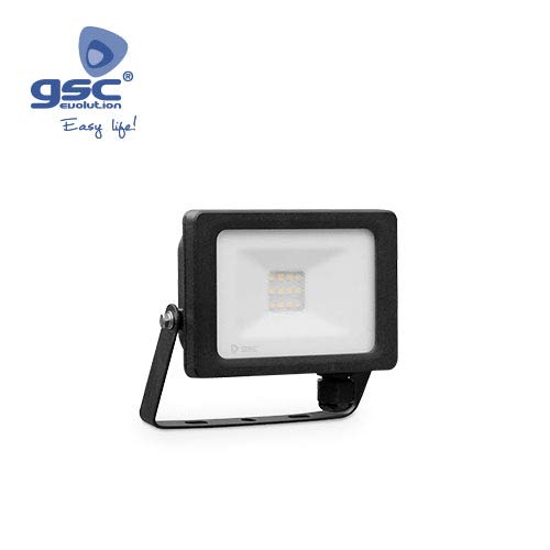GSC Projecteur LED 10W 6000K IP65 Noir 0704724
