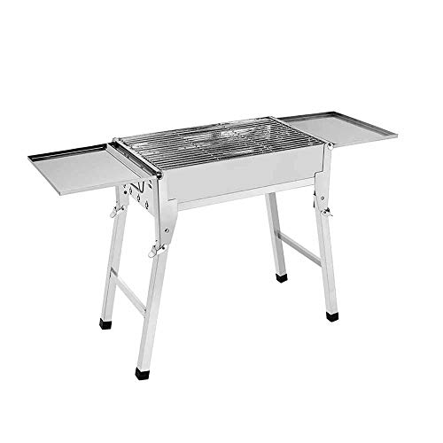 Daniel Portable Barbecue Grill, Charcoal Barbecues, Stainless Steel Folding BBQ Grill, For Outdoor Cooking Camping Hiking Picnics