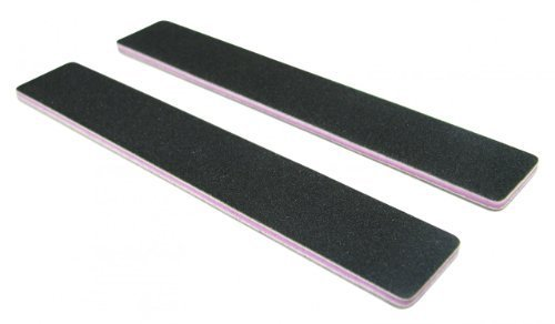 Standard Black 80/80 (Lav Ctr) 1-1/8 Wide Washable Jumbo Nail File 12 Pack by Nail File Guru