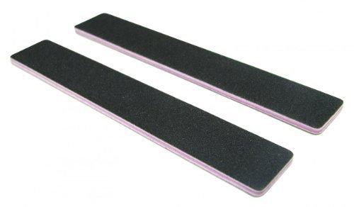 Standard Black 80/80 (Lav Ctr) 1-1/8 Wide Washable Jumbo Nail File 12 Pack by Nail File Guru