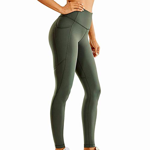 SHOBDW Leggings Mujer Cintura Alta Mallas Pantalones Deportivos Elásticos Reducir Vientre Fitness Abdomen Medias Leggins con Bolsillos para Yoga Running Leggings (F,XXL)