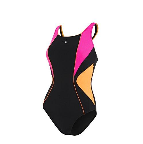 Aqua Sphere Chelsea, Bañador Deportivo para Mujer, Multicolor (Black/Pink), S