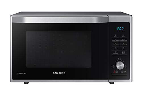 Samsung MC32J7055CT/EG Kombi-Mikrowelle mit Grill und Heißluft / 900 W / 32 L Garraum (Extra Groß) / 52,3 cm Breite / Slim-Fry / Hefeteig-/Joghurt-Programm / edelstahl/silber