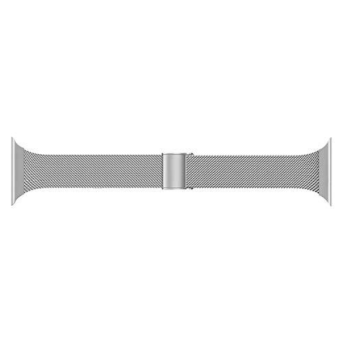 Seltureone Correa de metal compatible con iWatch Series 5/4/3/2/1 Sport Edition, 38 mm 40 mm, acero inoxidable, repuesto 38mm(40mm) plata