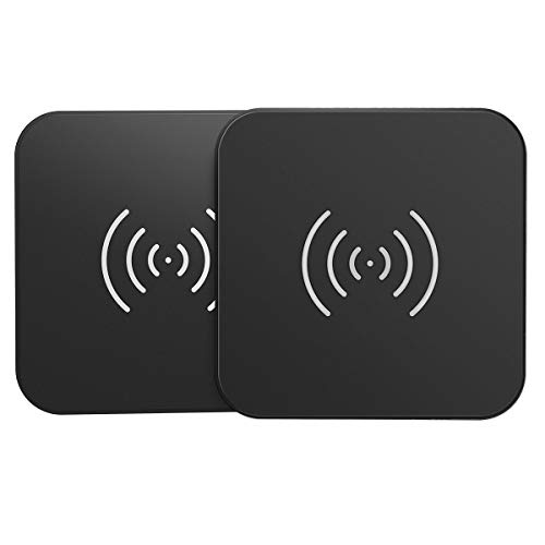 CHOETECH Wireless Charger 2 Pack, 10W Fast QI Induktion Ladestation kabelloses Ladegerät for iPhone SE 2020/11/ 11 Pro Max/XS MAX/XR/XS/X /8, Galaxy S20 / Note 10/9 / S10 / S9, AirPod 2/Pro